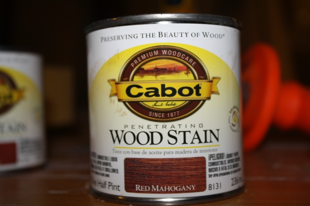 red mahogany wood stain